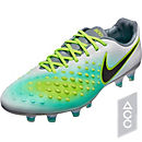 Nike Magista Opus II FG Soccer Cleats - Pure Platinum & Ghost Green