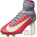 Nike Womens Mercurial Superfly V FG Soccer Cleats - Hyper Pink & White