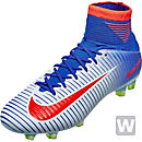 Nike Womens Mercurial Veloce III FG Soccer Cleats - White & Racer Blue
