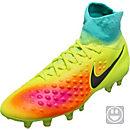 Nike Kids Magista Obra II FG Soccer Cleats - Volt & Black