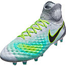 Nike Magista Obra II FG Soccer Cleats - Pure Platinum & Ghost Green