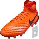 Nike Magista Obra II FG Soccer Cleats - Total Crimson & University Red