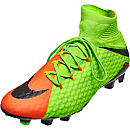 Nike Hypervenom Phatal III FG Soccer Cleats - Electric Green & Hyper Orange