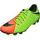 Nike Hypervenom Phelon III FG Soccer Cleats - Electric Green & Hyper Orange
