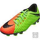 Nike Kids Hypervenom Phelon III FG - Electric Green & Hyper Orange