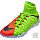 Nike Kids HypervenomX Proximo II TF Soccer Shoes - Electric Green & Hyper Orange