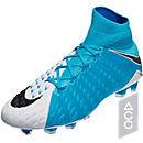 Nike Hypervenom Phantom III DF FG Soccer Cleats - White & Photo Blue