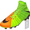 Nike Hypervenom Phantom DF III FG Soccer Cleats - Electric Green & Hyper Orange