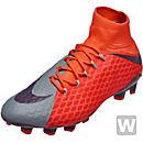 Nike Womens Hypervenom Phatal III FG - Cool Grey & Max Orange