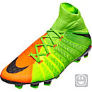 Nike Kids Hypervenom Phantom DF III FG - Electric Green & Hyper Orange