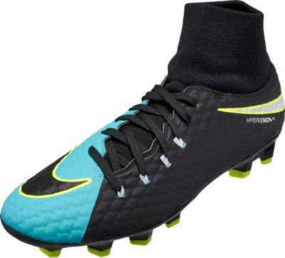 Nike Womens Hypervenom Phelon III DF FG - Light Aqua & White