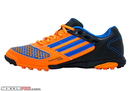 adidas Freefootball Xite Turf Soccer Shoe  Zest with Blue and Tech Onix