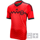 adidas Youth Mexico Away Jersey 2014  Poppy with Black