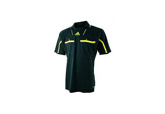 adidas Referee Jersey  Dark Grey with Neon Yellow