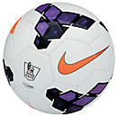 Nike Saber EPL Soccer Ball  White with Purple and Total Orange