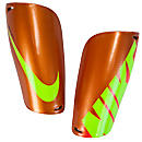 Nike Mercurial Lite Shin Guards  Orange with Volt