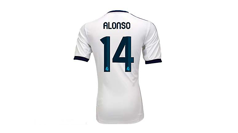 adidas Youth Real Madrid Xabi Alonso Home Jersey 2012-2013