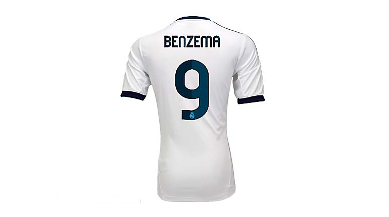 adidas Youth Real Madrid Benzema Home Jersey 2012-2013