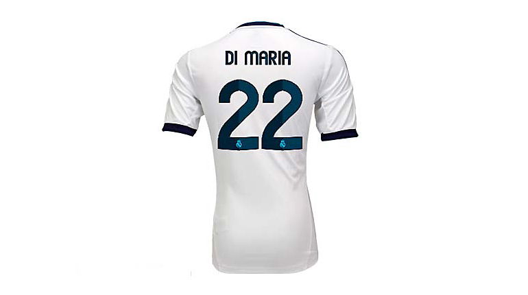 adidas Youth Real Madrid di Maria Home Jersey 2012-2013
