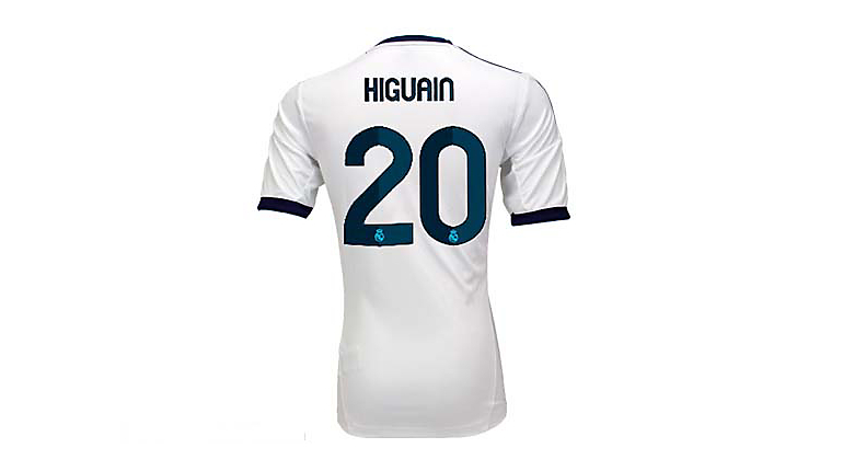adidas Youth Real Madrid Higuain Home Jersey 2012-2013