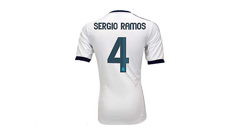 adidas Youth Real Madrid Sergio Ramos Home Jersey 2012-2013