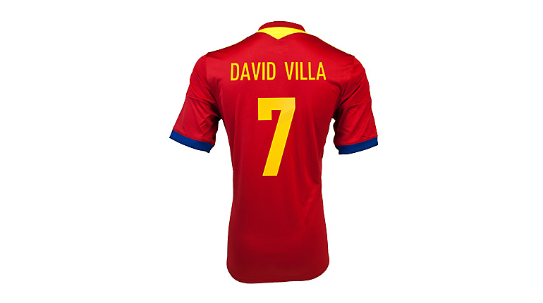 adidas Spain David Villa Home Jersey 2013