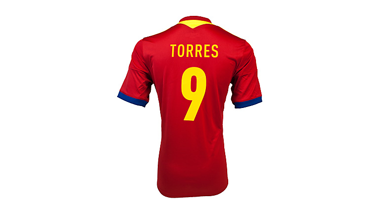 adidas Spain Torres Home Jersey 2013