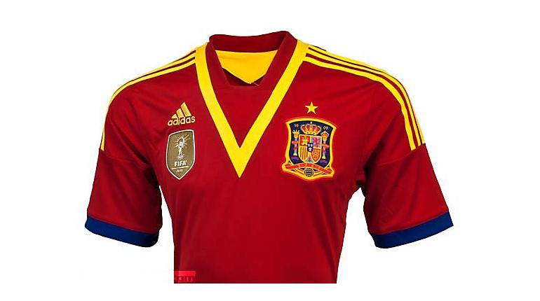 adidas Spain Mata Home Jersey 2013