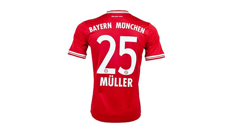 adidas Bayern Munich Muller Home Jersey 2013-2014