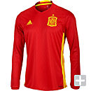 adidas Spain Long Sleeve Home Jersey 2016