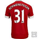 adidas Kids Bastian Schweinsteiger Manchester United Home Jersey 2015-16