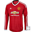 adidas Manchester United L/S Home Jersey 2015-2016