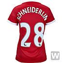 adidas Womens Morgan Schneiderlin Manchester United Home Jersey 2015-16