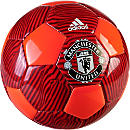 adidas Manchester United Soccer Ball - Solar Red