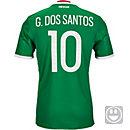 adidas Kids Giovani dos Santos Mexico Home Jersey 2016