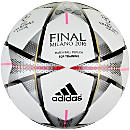 adidas Finale Milano Top Training Soccer Ball - White & Silver Metallic