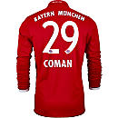 adidas Kingsley Coman Bayern Munich L/S Home Jersey 2016-17