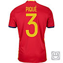 adidas Kids Gerard Pique Spain Home Jersey 2016