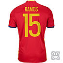 adidas Kids Sergio Ramos Spain Home Jersey 2016
