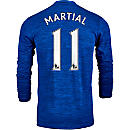 adidas Anthony Martial Manchester United L/S Away Jersey 2016-17