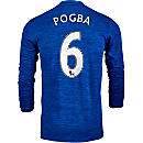 adidas Paul Pogba Manchester United L/S Away Jersey 2016-17