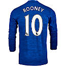 adidas Wayne Rooney Manchester United L/S Away Jersey 2016-17