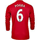 adidas Paul Pogba Manchester United L/S Home Jersey 2016-17