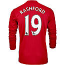 adidas Marcus Rashford Manchester United L/S Home Jersey 2016-17