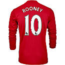 adidas Wayne Rooney Manchester United L/S Home Jersey 2016-17