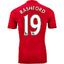 adidas Marcus Rashford Manchester United Authentic Home Jersey 2016-17