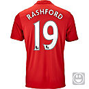 adidas Kids Marcus Rashford Manchester United Home Jersey 2016-17