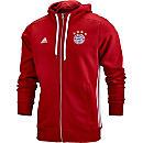 adidas Bayern Munich Full Zip Hoodie - FCB True Red & White