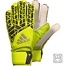 adidas Kids ACE Fingersave Goalkeeper Gloves - Solar Yellow & Black