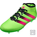 adidas ACE 16.2 Primemesh FG Soccer Cleats - Solar Green & Shock Pink